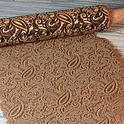 Для дома и интерьера handmade. Livemaster - original item Rolling pin with Paisley pattern rolling pin for cookies.. Handmade.