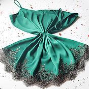 Одежда ручной работы. Ярмарка Мастеров - ручная работа Топ шелковый с кружевом. Handmade.