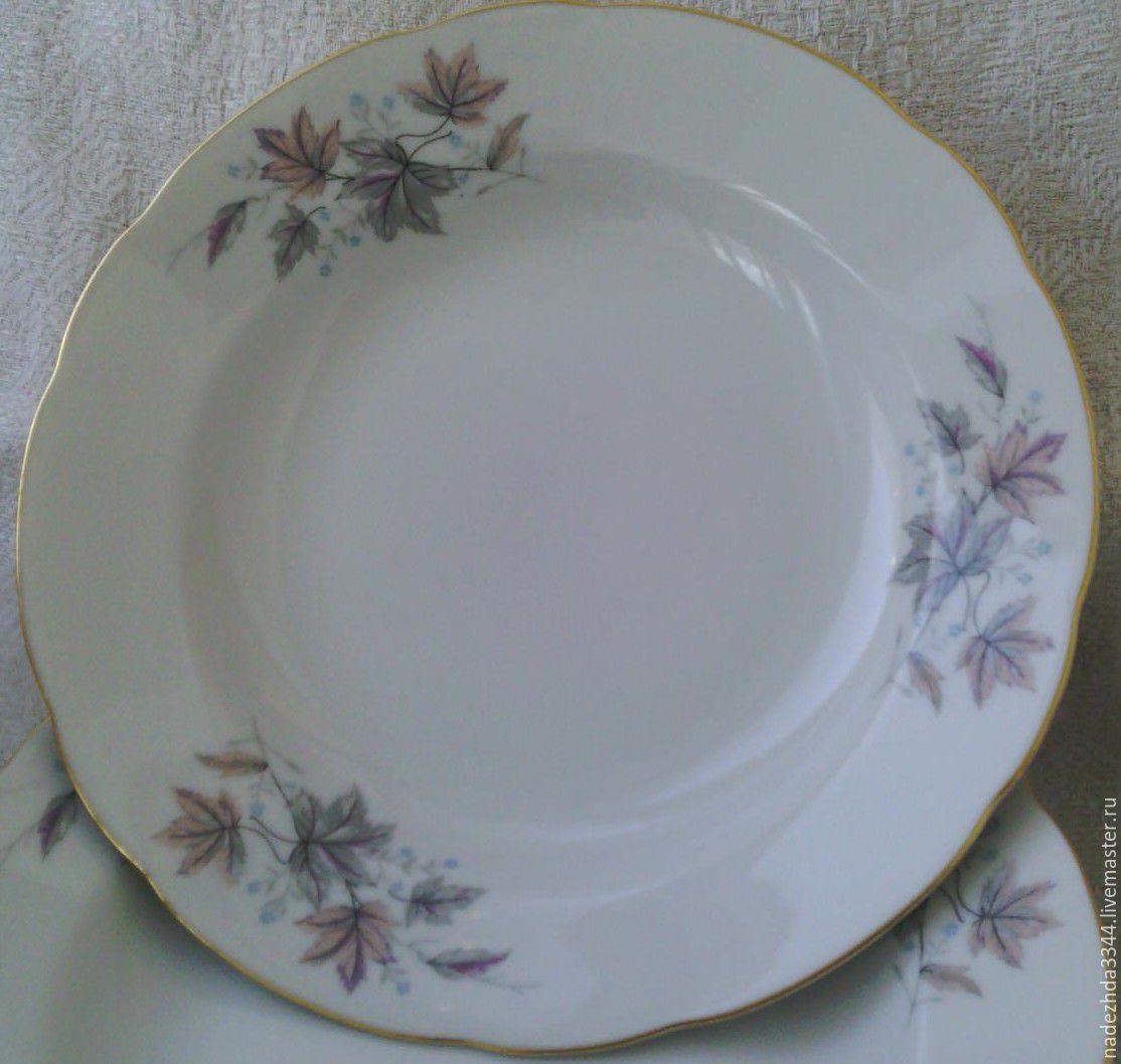 60s. Soup plates. 23 cm Japan, Vintage sets, Moscow, Фото №1