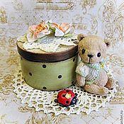 """Куклы и игрушки ручной работы. Ярмарка Мастеров - ручная работа Мишка """" Крем - брюле"""" с приданным.. Handmade."""
