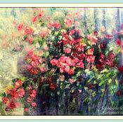 Картины и панно ручной работы. Ярмарка Мастеров - ручная работа картина из шерсти Розовый сад. Handmade.