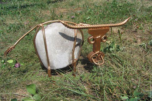 """Прихожая ручной работы. Ярмарка Мастеров - ручная работа. Купить """"Быки и коровы"""". Handmade. Белый, подарок на любой случай, сталь"""