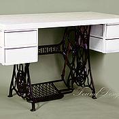 Для дома и интерьера ручной работы. Ярмарка Мастеров - ручная работа Письменный стол с ящиками на станине Singer. Handmade.