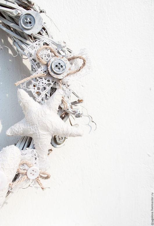 Подвески ручной работы. Ярмарка Мастеров - ручная работа. Купить Интерьерный венок в шебби-стиле, белый венок. Handmade. Венок