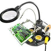 Материалы для творчества handmade. Livemaster - original item Bifocal magnifier with holders and illumination TE-802. Handmade.