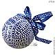 Подвески ручной работы. BLUE шар-подвеска для интерьера Точечная роспись. ADALINA-ART Точечная роспись. Ярмарка Мастеров.