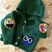 """Работы для детей, ручной работы. Ярмарка Мастеров - ручная работа Вязанная кофта с капюшоном """"Смайлы"""". Handmade."""