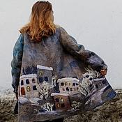 """Пальто ручной работы. Ярмарка Мастеров - ручная работа Валяное пальто  """"Зимний город"""". Handmade."""