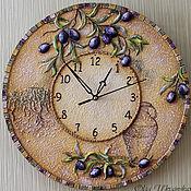 """Для дома и интерьера ручной работы. Ярмарка Мастеров - ручная работа Часы """"Оливковая роща"""" в объеме. Handmade."""
