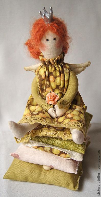 Куклы Тильды ручной работы. Ярмарка Мастеров - ручная работа. Купить интерьерная кукла - принцесса на горошине Инга. Handmade. Принцесса