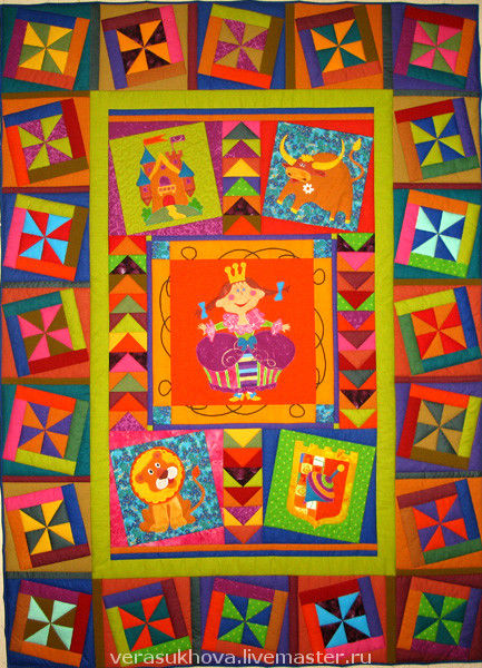 Plaids and blankets handmade. Livemaster - handmade. Buy 'Princess Julia'quilt.Quilt, libra, coat of arms
