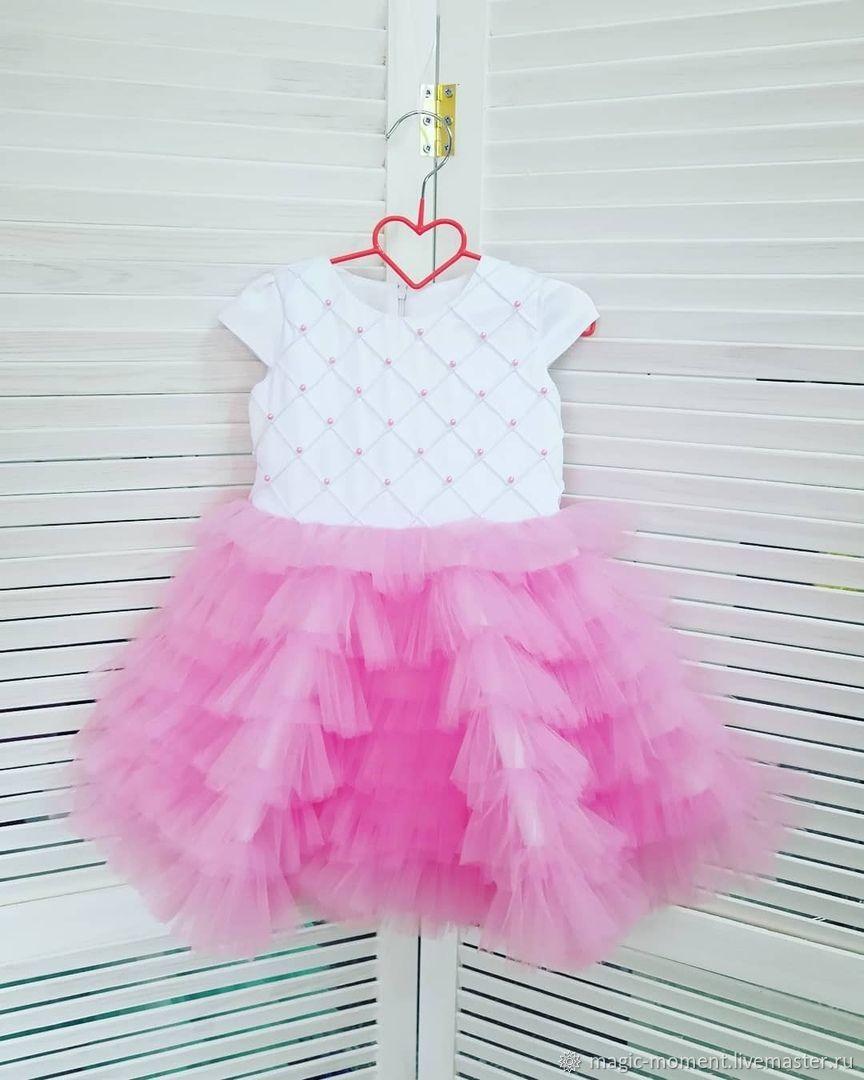 Пышное короткое платье для девочки, Одежда, Челябинск,  Фото №1