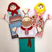 Мягкие игрушки ручной работы. Ярмарка Мастеров - ручная работа В наличии! Куклы-рукавички.. Handmade.