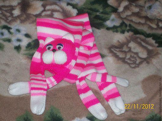 Шапки и шарфы ручной работы. Ярмарка Мастеров - ручная работа. Купить Котошарфики для детей и взрослых. Handmade. Шарфик вязаный