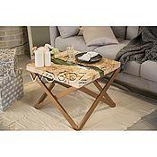 Столы ручной работы. Ярмарка Мастеров - ручная работа Журнальный столик-река из Горного тополя. Handmade.