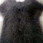 Одежда ручной работы. Ярмарка Мастеров - ручная работа Пуховый жилет - шубка , серый ,для примера !!. Handmade.