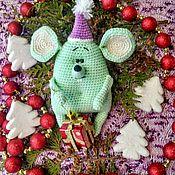 Мягкие игрушки ручной работы. Ярмарка Мастеров - ручная работа Новогодний мышонок. Handmade.