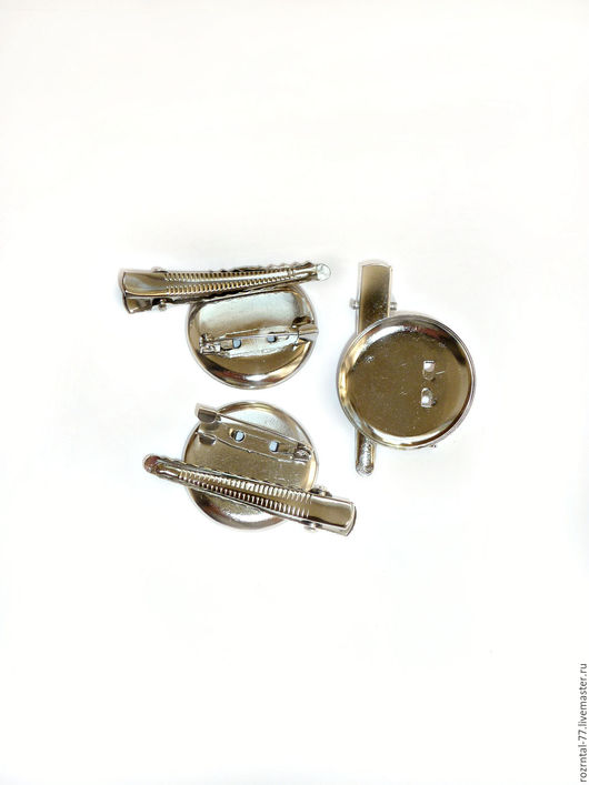 Основа для броши и заколка .  Диаметр основы 29 мм ,  длина заколки 46 мм.  Основа для броши и заколки универсальная,  Цвет никель.