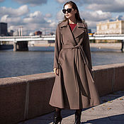 "Одежда handmade. Livemaster - original item Copy of Flared coat ""Taupe"". Handmade."