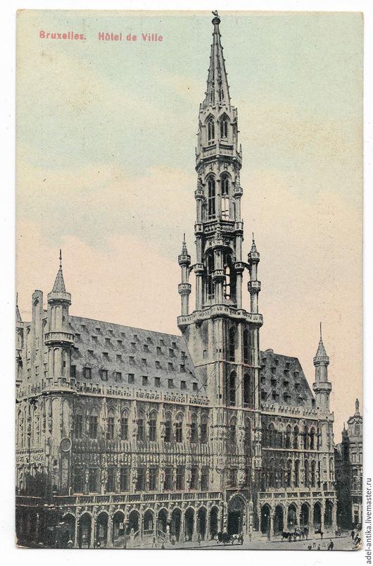 Винтажные сувениры. Ярмарка Мастеров - ручная работа. Купить Старинная открытка. Брюссель.. Handmade. Комбинированный, старинная открытка, винтажный стиль