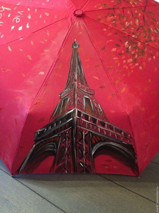 """Зонты ручной работы. Ярмарка Мастеров - ручная работа. Купить Зонт """"Немного Франции"""". Handmade. Зонтик, зонт складной, лето"""