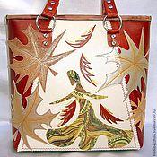 """Сумки и аксессуары ручной работы. Ярмарка Мастеров - ручная работа Кожаная сумка """" Осень, рыжая плутовка""""-2. Handmade."""