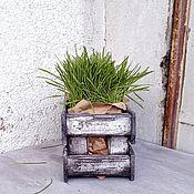 Ящики ручной работы. Ярмарка Мастеров - ручная работа Ящики: Состаренный ящик под цветы. Handmade.