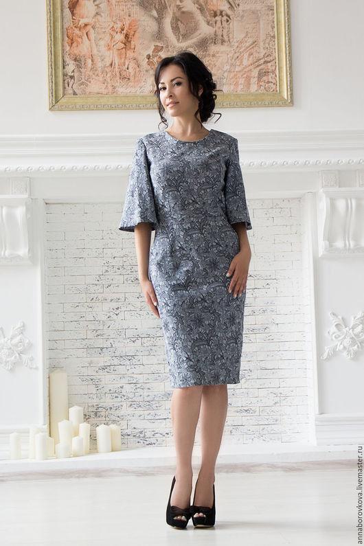 """Платья ручной работы. Ярмарка Мастеров - ручная работа. Купить Платье """"Мимоза"""". Handmade. Темно-серый, платье коктейльное"""