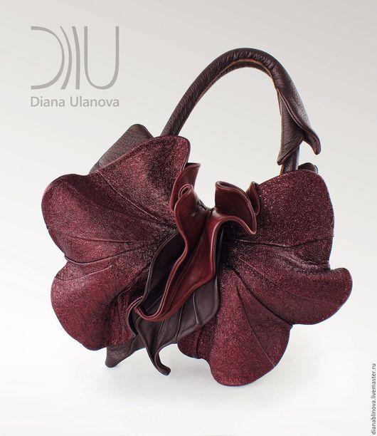 Женские сумки ручной работы. Ярмарка Мастеров - ручная работа. Купить Орхидея NEW бордо. Handmade. Бордовый, подарок женщине