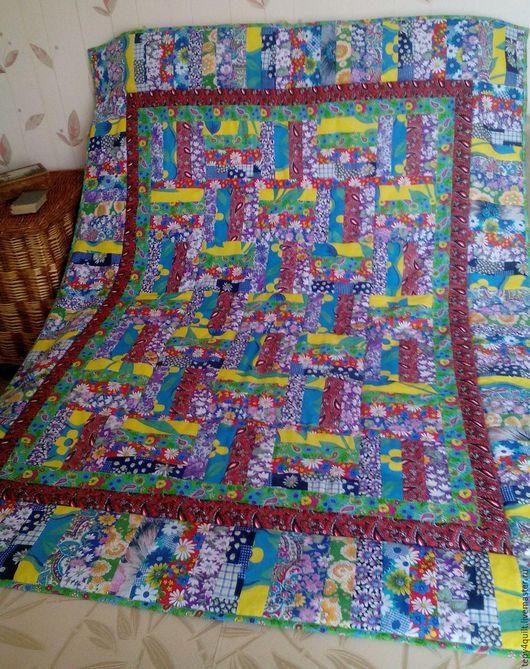 """Текстиль, ковры ручной работы. Ярмарка Мастеров - ручная работа. Купить Комплект """"Избушка''. Русское деревенское одеяло + 2 подушечки. Handmade."""