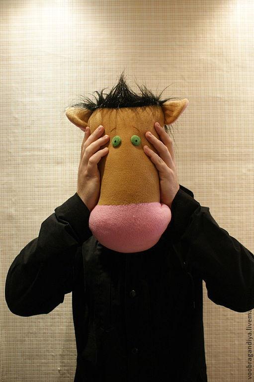 Текстиль, ковры ручной работы. Ярмарка Мастеров - ручная работа. Купить Конь в пальто, Голова лошади. Handmade. Коричневый, фотосессия