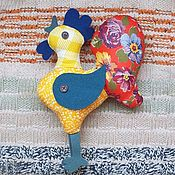 Куклы и игрушки ручной работы. Ярмарка Мастеров - ручная работа Лоскутный петушок Петя. Handmade.