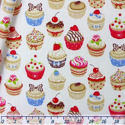 Кексы на белом В НАЛИЧИИ отрез 30 на 80 см
