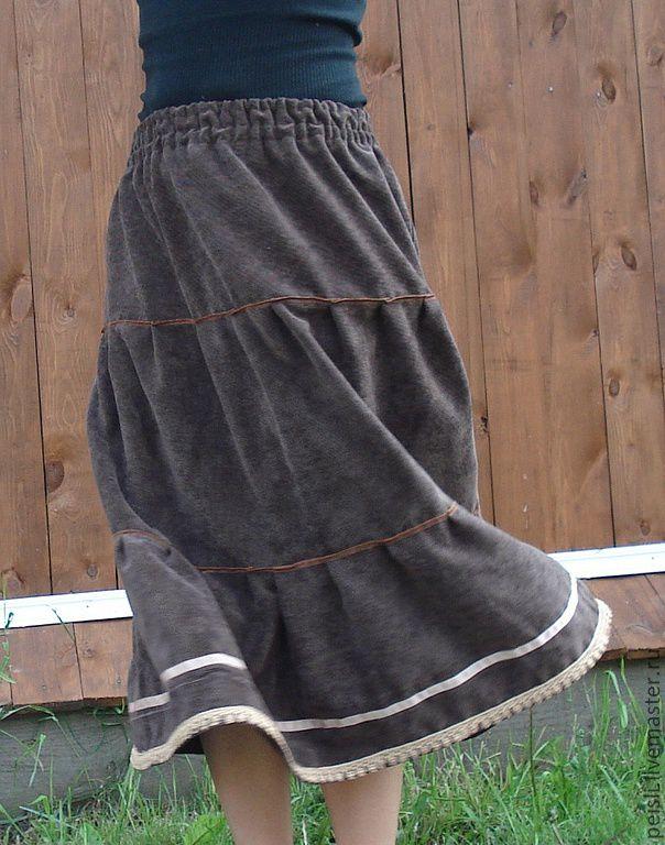 Как сшить длинную юбку из вельвета своими руками