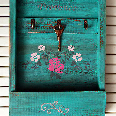 For home and interior handmade. Livemaster - original item A wall keybox Paints of summer country.. Handmade.