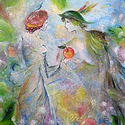 """Картины и панно ручной работы. Ярмарка Мастеров - ручная работа Картина """"Самое вкусное яблочко..."""". Handmade."""