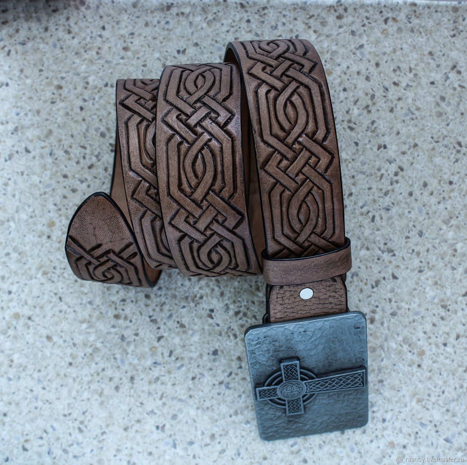 Belts handmade. Livemaster - handmade. Buy Leather belt 'Celtic cross'.Handmade, celtic cross, vegetable tanned