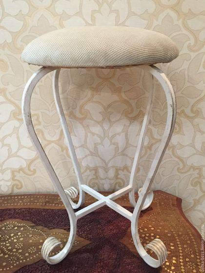Мебель ручной работы. Ярмарка Мастеров - ручная работа. Купить Табурет кованый. Handmade. Белый, кованный