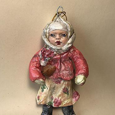 Куклы и игрушки ручной работы. Ярмарка Мастеров - ручная работа Ватная куколка Дуняша. Handmade.