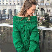 Одежда handmade. Livemaster - original item Bright green women`s sweater. Handmade.