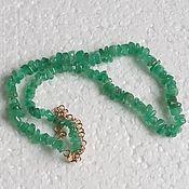 Колье ручной работы. Ярмарка Мастеров - ручная работа Изумрудное ожерелье с золотом. Handmade.