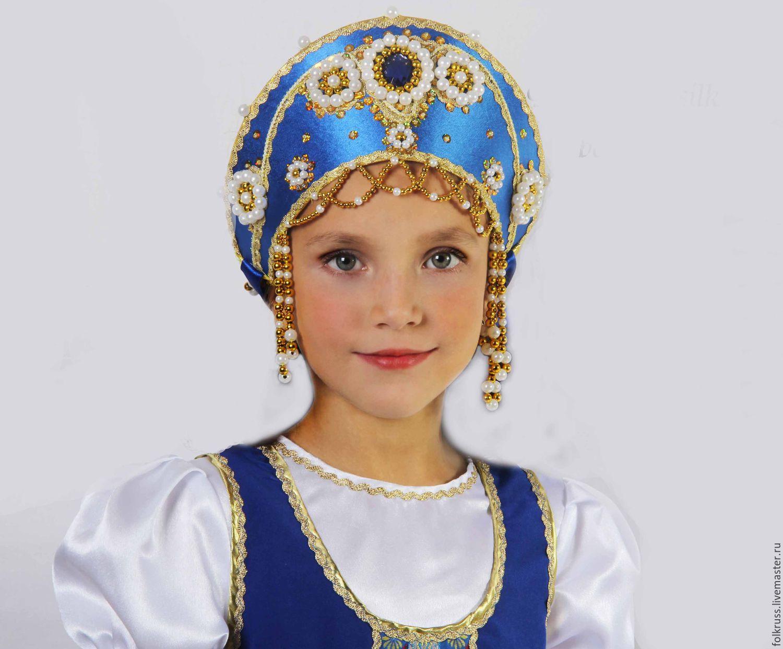 стран плетение головного кокошника русского народного костюма красоты камней простые