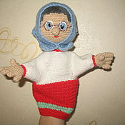 Куклы и игрушки ручной работы. Ярмарка Мастеров - ручная работа Кукла- перчатка. Бабушка Клава. Handmade.