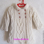 Одежда детская handmade. Livemaster - original item children`s knitted coat .. Handmade.