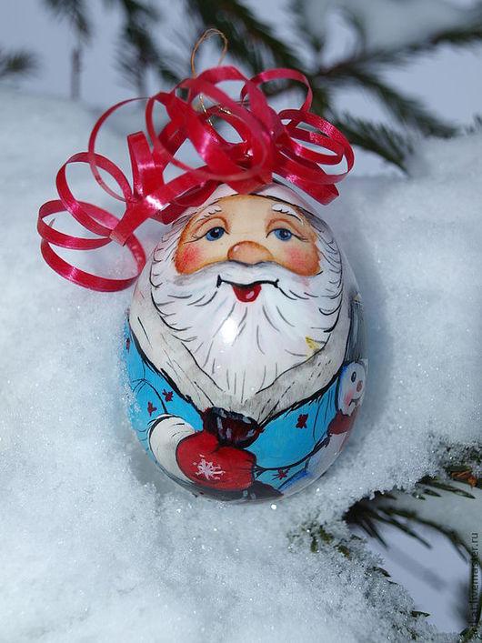 """Новый год 2017 ручной работы. Ярмарка Мастеров - ручная работа. Купить Ёлочная игрушка """"Дед Мороз и Снежный Друг"""". Handmade."""