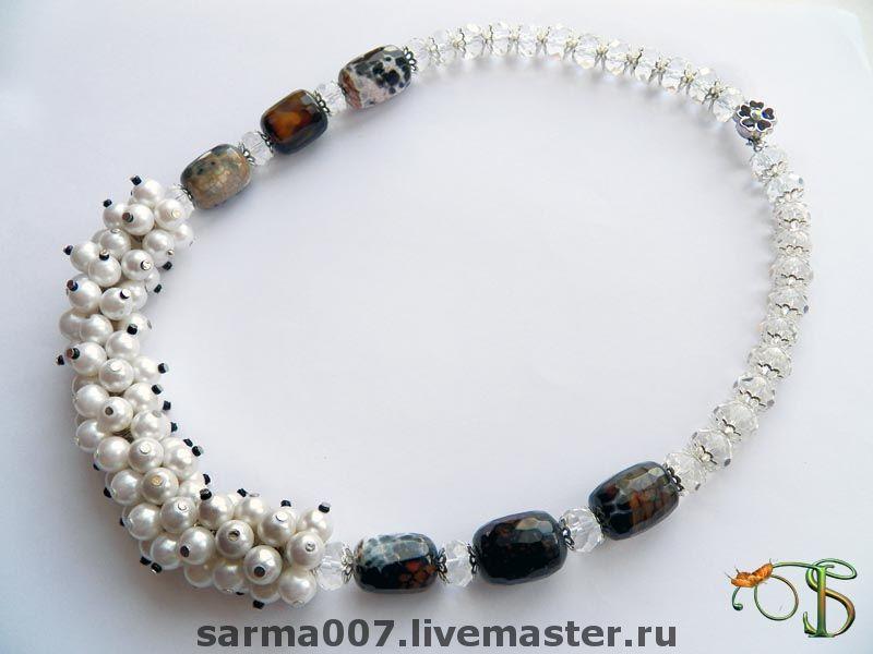 Necklace 'Snow leopard', Necklace, Voronezh,  Фото №1