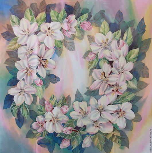 Шёлковый Платок батик На заказ может быть выполнен в разных размерах, на разных видах натурального шёлка(имеющимся в наличии). Цена батик платка зависит от выбранного размера и вида ткани