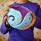 Vases handmade. Livemaster - original item Bowl tangle Lubochnia nominal. Handmade.