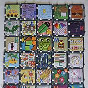Куклы и игрушки ручной работы. Ярмарка Мастеров - ручная работа Супер - АЗБУКА, развивающий массажный коврик. Handmade.