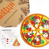 Материалы для творчества handmade. Livemaster - original item Felt Craft Kit - do your oun pizza.. Handmade.